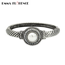 2017 Hot Fashion Quality Pearl Snap Button DIY Finding Jewelry Making Women Snap Button Wrist Cuff Handmade Women Bangles Gift