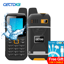 CECTDIGI F8 Dual Sim Unlocked Cell Phone PTT Walkie Talkie Phone 3000mah Battery Power Bank  Waterproof IP67 Rugged Phone Arabic