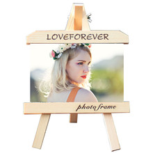 Cheap Wood Frame Easel 7-inch Modern Style Woodcut Solid Wood Easel Set a Table Creative Photo Display Stand(China)