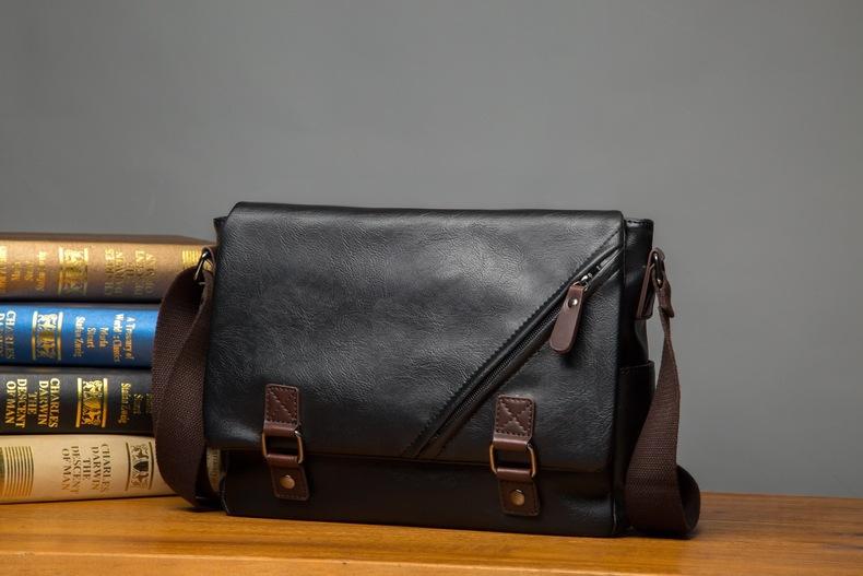 MJ Men\`s Bags Vintage PU Leather Male Messenger Bag High Quality Leather Crossbody Flap Bag Versatile Shoulder Handbag for Men (11)