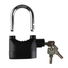 High Quality Home Hardware Locks Accessories Bike MTB Motorcycle Motion Sensor Security Alarm Lock Padlock 110 DB alarm(China)