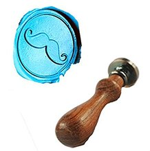 Vintage Funny Mustache Custom Picture Logo Wedding Invitation Wax Seal Sealing Stamp Rosewood Handle Set(China)