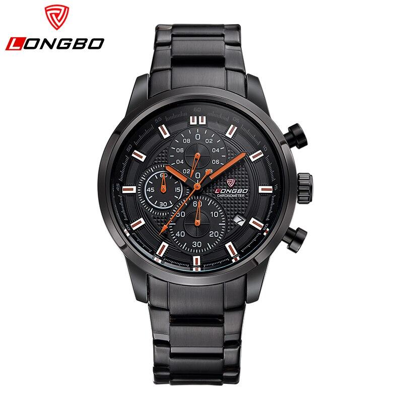 LONGBO luxury men watch fashion quartz watch Really three small dial full steel Waterproof relogio masculin 2017 new male clock<br><br>Aliexpress