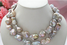 "z4317 100% RAEL Huge 34"" 30mm lavender baroque KESHI REBORN PEARL NECKLACE Factory Wholesale price Women Giftword Jewelry"