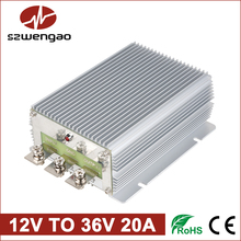 Wengao Non-isolated Boost DC-DC Converter 12V to 36V 20A 720W DC DC Converters Step-up Voltage Regulator