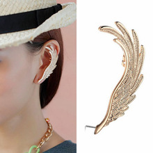 1PC New Gold Angel Wing Earcuff Stud Wrap Earrings Fashion Women Angel Wing Ear Wrap Cuff Earrings Left Ear Stud Gifts for Her