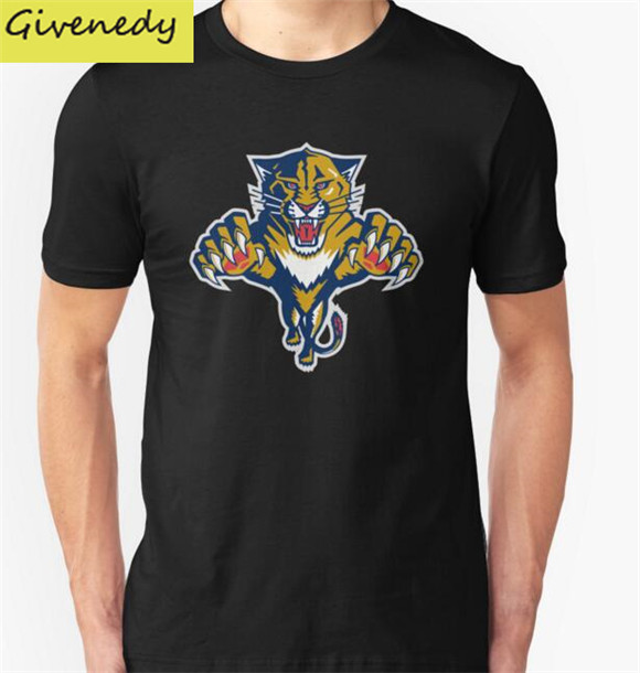 2016 summer brand 100% cotton Florida Panthers funny Men t-shirt tops Man casual short sleeve t shirts Plus Size(China (Mainland))
