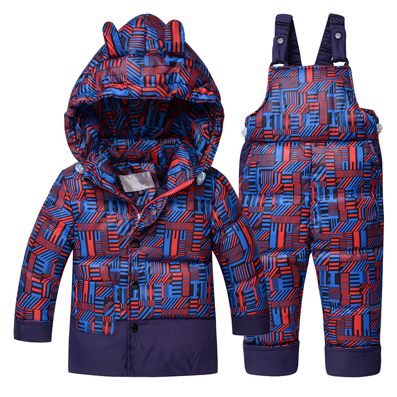 NEW 2017 Winter Children Clothing Sets Duck Down Jacket Sets Pants-jacket Hooded Baby Boys Winter Jacket &amp; Coat Pony PatternÎäåæäà è àêñåññóàðû<br><br>