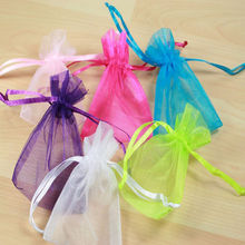 50 pcs Hot sale Organza Gift Bags Jewellery Christmas Packing Pouches Wedding Party Supplies Accessories