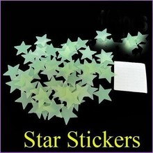 1000 PCS stickers infant children gift free shipping luminous stars glow in the dark on the wall in the home nursery(China)