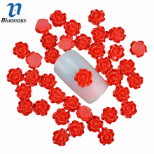 Blueness 50pcs 3D nail art decoration DIY charm jewelry nail design resin nail stud tips nail sticker accessories PJ214(China)