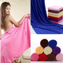Free Shipping Large Microfibre Cotton Beach Bath Towel Sports Travel Camping Gym Light weight 70cm x 140cm(China)