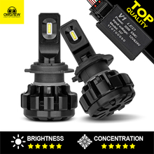 Owlview Top quality Cree Chip Car LED Headlight Bulbs H4 Headlamp H1 Car Lights H7 LED Light 9004 H11 H13 9005 9006 H3 9007(China)