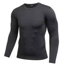compression shirt long sleeve rashguar men Fitness tops t-shirt boys singlets bodybuilding tshirt crossfit men's T shirt surfing(China)