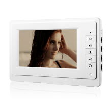 white Luxury Home Color Video Take Picture 7inch lcd monitor  video doorphone intercom home security access system indoor set