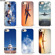 BiNFUL Hot sale Airplane Hard Transparent Phone Case Cover Coque for Apple iPhone 4 4s 5 5s SE 5C 6 6s 7 Plus(China)