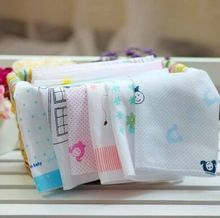 HOT SALE 5PCS/LOT Lovely South Korea Single Layer High Quality 100% Cotton Gauze Handkerchief Baby