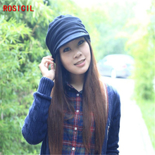 ROSICIL 2017 Autumn Winter Women's Fashion Knitting Warm Hat Skullies Beanies Add Cotton  Letters Peaked Caps Multicolor
