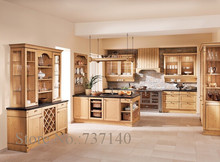oak kitchen cabinet Foshan furniture factory high quality solid wood kitchen cabinets furniture buying agent