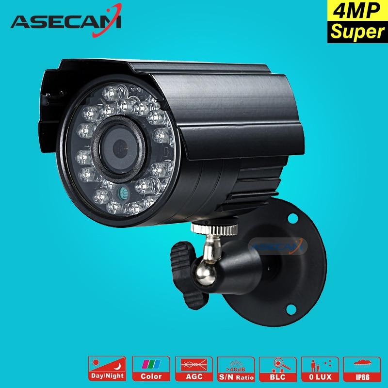 Hot Super HD 4MP CCTV AHD Camera OV4689 Outdoor Waterproof Small Metal Black Bullet Infrared Night Vision Security Surveillance<br>