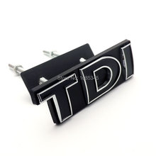 Chromed Finish TDI SPORT EDITION Front Grill Emblem Badge for Volkswagen POLO Golf 4 5 6 7 VW Stickers Car Styling Accessories