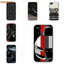 minason Cover case for iphone 4 4s 5 5s 5c 6 6s 7 8 plus samsung galaxy S5 S6 Note 2 3 4 For Audi Car Logo DE0061(China)