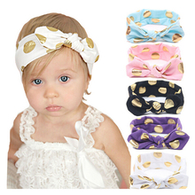 Newborn headwear Girls Cold Press Knot Elasticity Of The Baby Scrunchies Headband Children Hair Bands Hair Accessories 201(China)