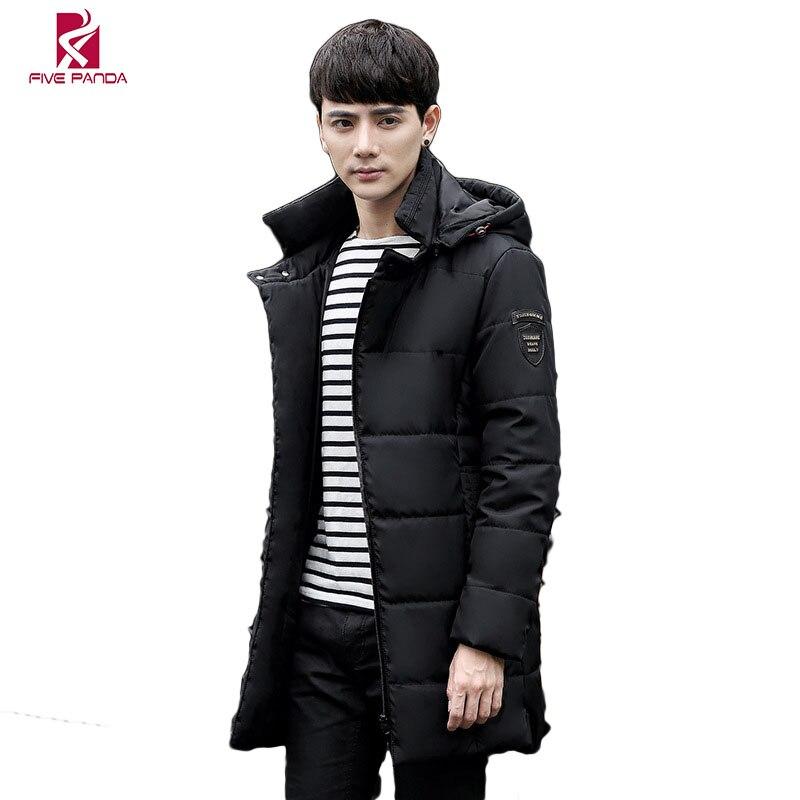 FIVE PANDA 2017 Winter Jacket Men Brand Quality Cotton Clothes Hooded Fashion Parkas Winter Slim Padded Jacket Coat CYRF014Одежда и ак�е��уары<br><br><br>Aliexpress