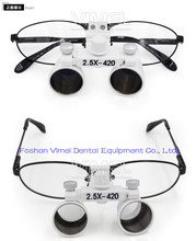 2.5X  Portable Medical  Dental Loupe with LED Head Light Lamp replaceable glasses surgical operation magnifier