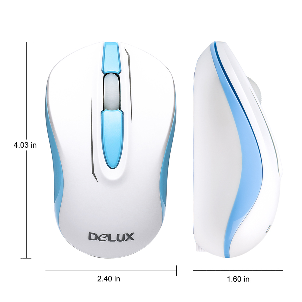 Delux wireless mouse  computer gaming mouse