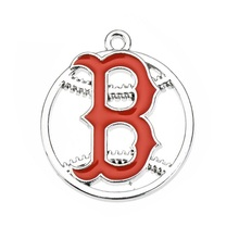 Newest Design Boston Red Sox Pendant Charms Enamel MLB Baseball Team Logo Charm For All DIY Sport Jewelry(China)