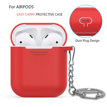 Ahastyle For Apple Airpods Silicone Case Soft Cover with Dust Plug Ultra Thin Protector Case Sleeve Pouch for Air pods Earphone