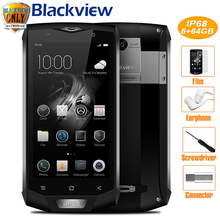 "Blackview BV8000 Pro Mobile Phone IP68 Waterproof Android 7.0 5.0""FHD MTK6757 Octa Core 6GB+64GB 16MP Side Touch ID Smartphone"