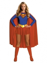 Free shipping Fancy Hero Ladies Girl Wonder Sexy Superhero Superwoman Supergirl Outfit plus size S-3XL(China)