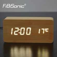2017 Best High-end clocks,Thermometer Alarm clock LED Digital Voice Table Clock,13 colors Digital Clock Battery/USB power