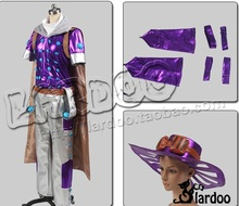 JoJo's Bizarre Adventure Steel Ball Run Gyro Zeppeli Cosplay Costume with hat and cloak(China)