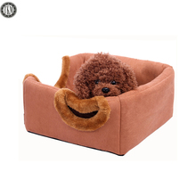 TKM Pet Dog Seat Beds Mat Suede Flannelette Plush Round Pets Cat Puppy Kennel House 2 ways Used Luxury Bed House for PetsPDMAT14(China)