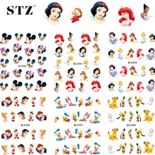 1sheets Water Stickers Nail Art Princess Prince Cartoon Tattoos DIY Beauty Tips of Nail Art Decals Nail Decoration BLE489-499