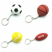 cartoon football basketball tennis usb flash drive silicone sports ball pendrive storage device Pen drive 4g 8g 16g 32g U disk