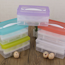 Convenient 24 Grid Bilayer Eggs Organizer Refrigerator Egg Storing Kitchen Outdoor Portable Container for Storage Egg Box