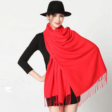 NEW Man and Women Soft PASHMINA SILK Classic Solid Cashmere Wool big size SHAWL Scarf Stole WRAP winter luxury brand colored