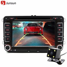 Junsun 2 din Car DVD GPS 7'' Bluetooth FM Radio Stereo Player for Volkswagen VW Golf 6 auto DVD Player free gift(China)