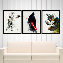 New Movie Poster Star Wars Canvas Painting Kids Wall Pictures Prints Pop Art for Living Room Home Decor No Frame(China)
