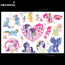 SHNAPIGN My Little Pony Toy Child Temporary Tattoo Body Art Flash Tattoo Stickers 17*10cm Waterproof Styling Fake Tatoo Sticker
