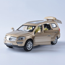 1:32 Scale Diecast Model Car with Sound And Light Alloy Metal Vehicles Pull Back Emulation Electric Car Collectible Boy Toy(China)