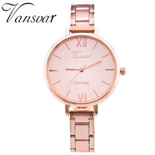 Vansvar Brand Everyday Bracelet Watch Casual Women Wrist Watch Stainless Steel Quartz Watch Relogio Feminino Clock 1362