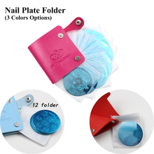 24 Slots Leather Nail Art Stamping Plate Case/Bag/Folder Nail Stamp Template Holder Album Storage For Dia 5.6cm Stencil(China)