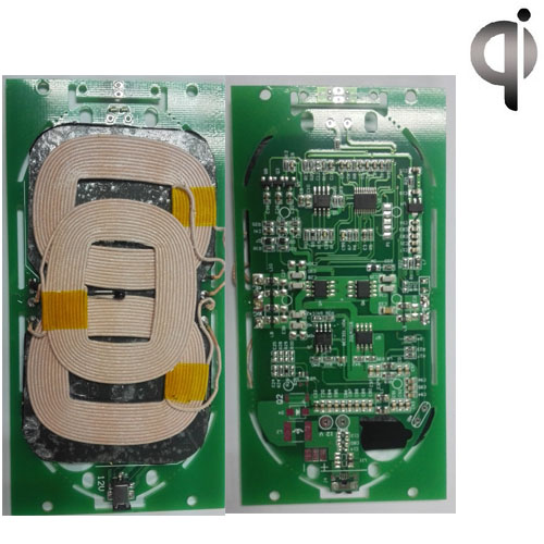 Mobile phone wireless charger three coil 5V three coil launch module circuit board PCBA program DIY<br>