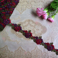 DIY Flower Lace Trims 4cm Wedding Bride Sewing Craft Flower Crochet Flower Lace flower water-soluble lace decoration