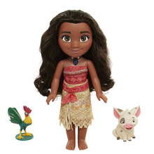 Hot Sale 38cm Moana PVC Talking Singing Dolls Anime The Ocean is Calling Model Toys Cute Cartoon Doll with Pig & Cock Girl Gift
